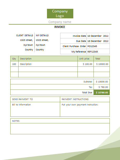 Free Invoice Template Downloads