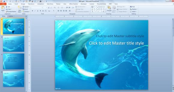 580 x 308 jpeg 49kB, El diseño de plantilla powerpoint de delfin